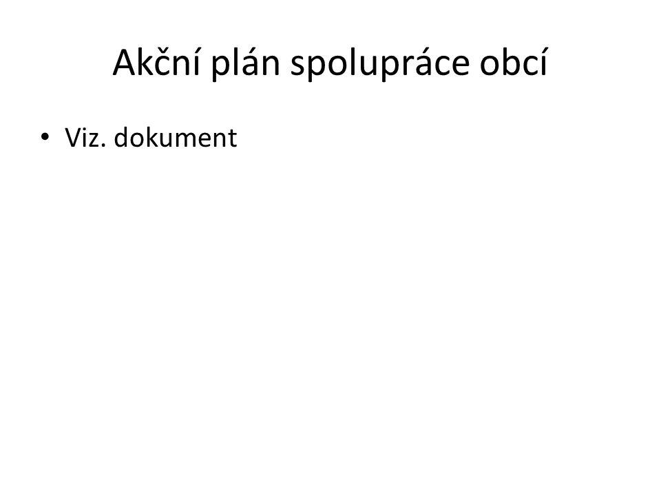 Akční plán spolupráce obcí Viz. dokument