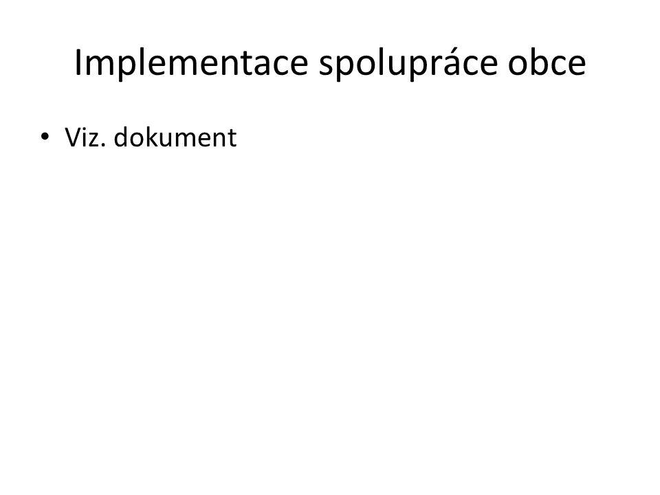 Implementace spolupráce obce Viz. dokument