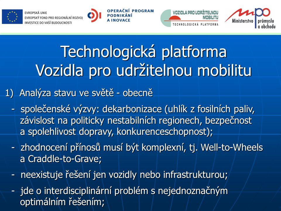 Technologická platforma Vozidla pro udržitelnou mobilitu 1) Analýza stavu ve světě - obecně 1) Analýza stavu ve světě - obecně - společenské výzvy: de