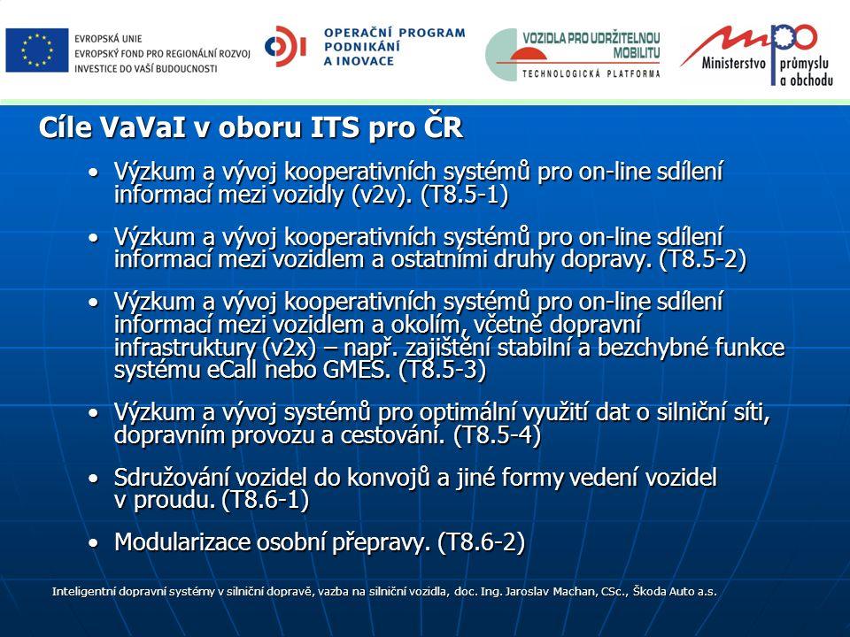 Výzkum a vývoj kooperativních systémů pro on-line sdílení informací mezi vozidly (v2v). (T8.5-1)Výzkum a vývoj kooperativních systémů pro on-line sdíl