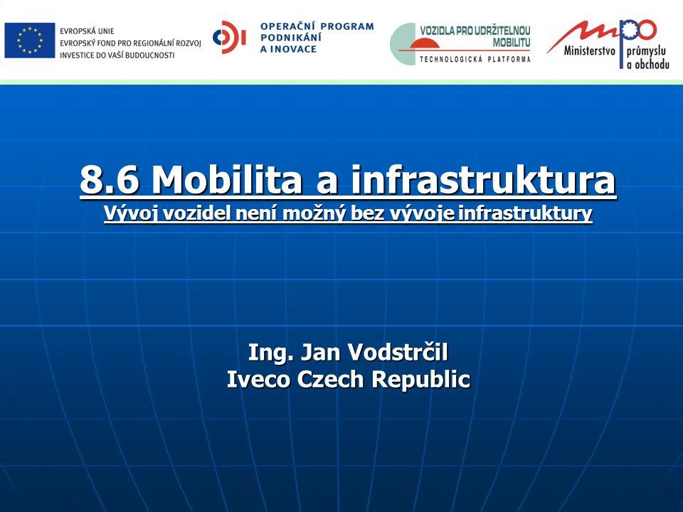 8.6 Mobilita a infrastruktura Vývoj vozidel není možný bez vývoje infrastruktury Ing. Jan Vodstrčil Iveco Czech Republic