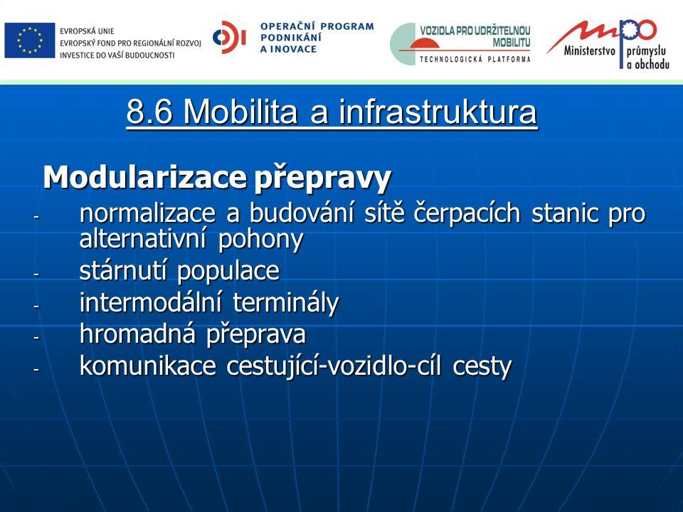 Modularizace přepravy Modularizace přepravy - normalizace a budování sítě čerpacích stanic pro alternativní pohony - stárnutí populace - intermodální