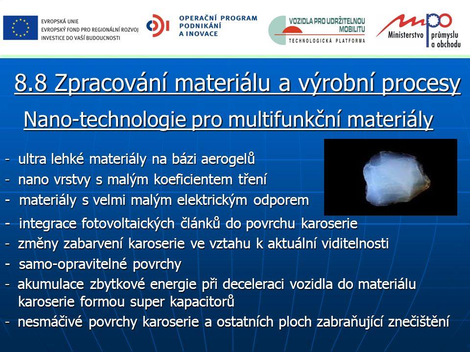 Nano-technologie pro multifunkční materiály - ultra lehké materiály na bázi aerogelů - nano vrstvy s malým koeficientem tření - materiály s velmi malý