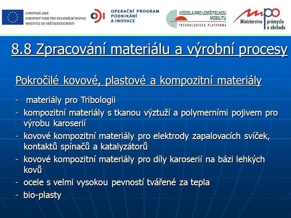 Pokročilé kovové, plastové a kompozitní materiály - materiály pro Tribologii - kompozitní materiály s tkanou výztuží a polymerními pojivem pro výrobu
