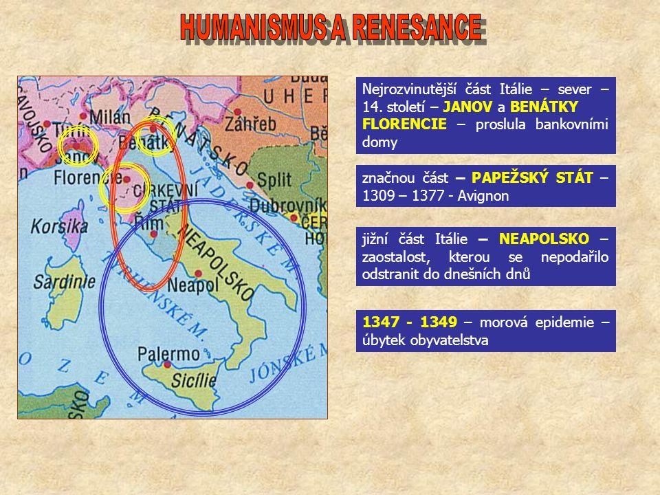 Nejrozvinutější část Itálie – sever – 14.