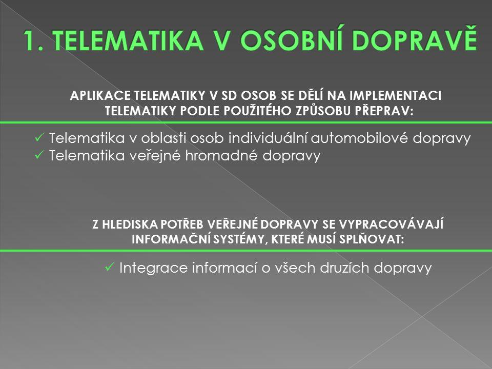 TVORBA MULTIMODÁLNÍCH INFORMAČNÍCH SYSTÉMŮ PRO CESTUJÍCÍ: Integrace jednotlivých druhů informací (cestovní, dopravní, turistické, ubytovací) Tvorba multimediálních informačních systémů z hlediska přenosu a předání informací Integrace našich informačních systémů pro cestující do informačních systémů evropského dopravního systému