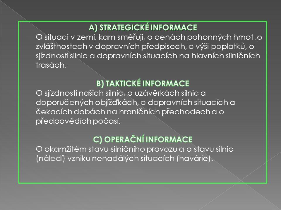 MÍSTENKOVÝ SYSTÉM, KTERÝ UMOŽŇUJE: a) prodej jízdenky s místenkou b) poskytování podkladu pro dispečerské řízení c) evidenci tržeb d) statické přehledy CESTUJÍCÍ POTŘEBUJE 3 DRUHY INFORMACÍ.