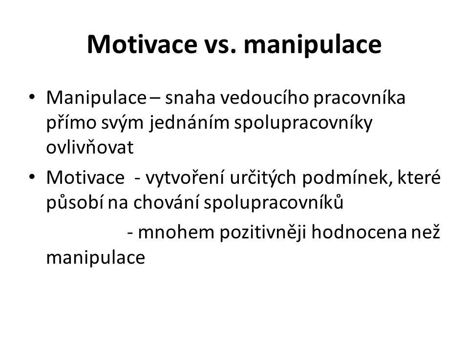 Motivace vs.