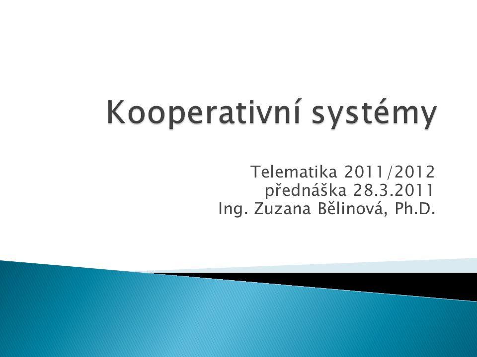 Telematika 2011/2012 Kooperativní systémy  Bezpečnostní aplikace na křižovatkách (Road Intersection Safety application) ◦ nehoda na křižovatce;
