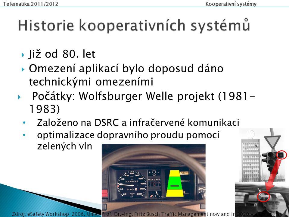 """Telematika 2011/2012 Kooperativní systémy  Aplikace pro změnu jízdního pruhu (Lane Change Manoeuvre application) ◦ změna jízdního pruhu pro nákladní vozidla s """"mrtvým bodem"""