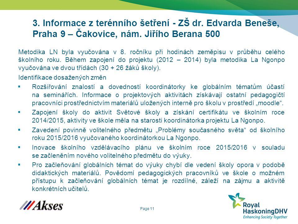 Page 11 3. Informace z terénního šetření - ZŠ dr.