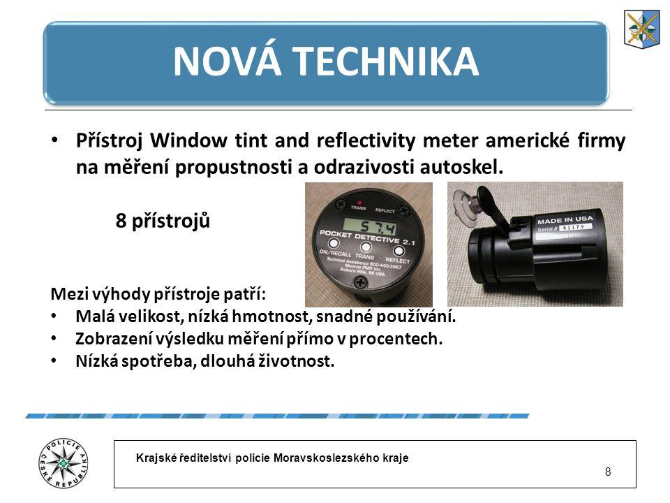 Krajské ředitelství policie Moravskoslezského kraje 9 NOVÁ TECHNIKA Dopravní policisté z Polska již podobné přístroje na měření propustnosti autoskel (CL 176) mají k dispozici několik let.