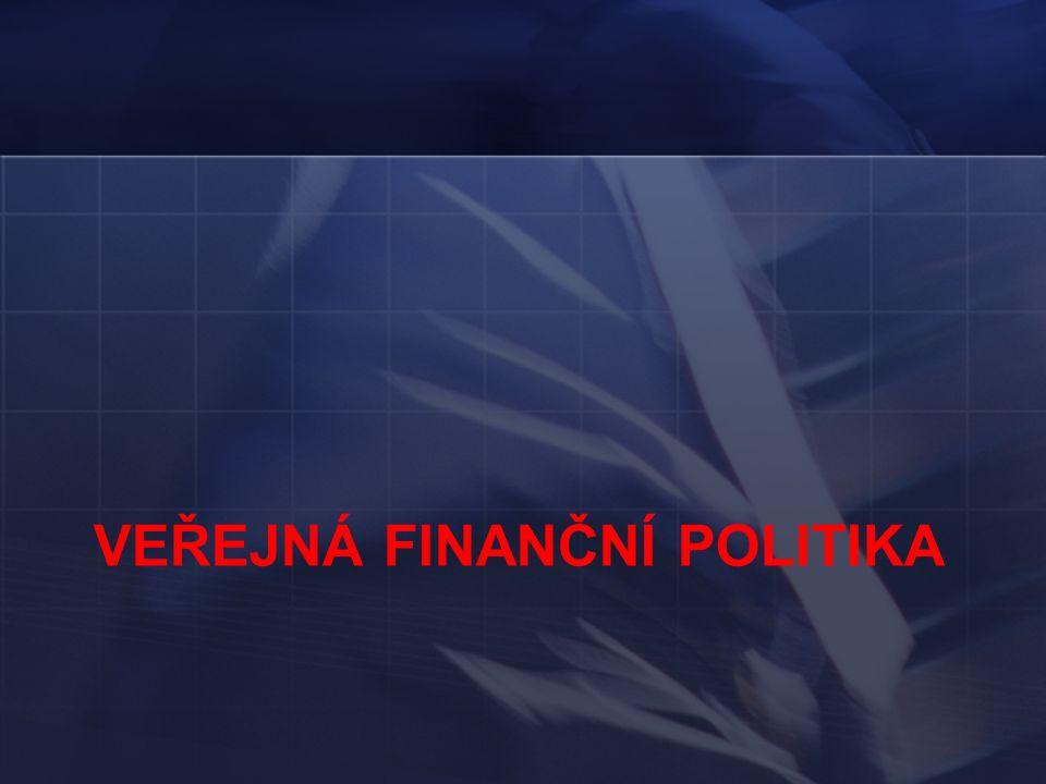 VEŘEJNÁ FINANČNÍ POLITIKA