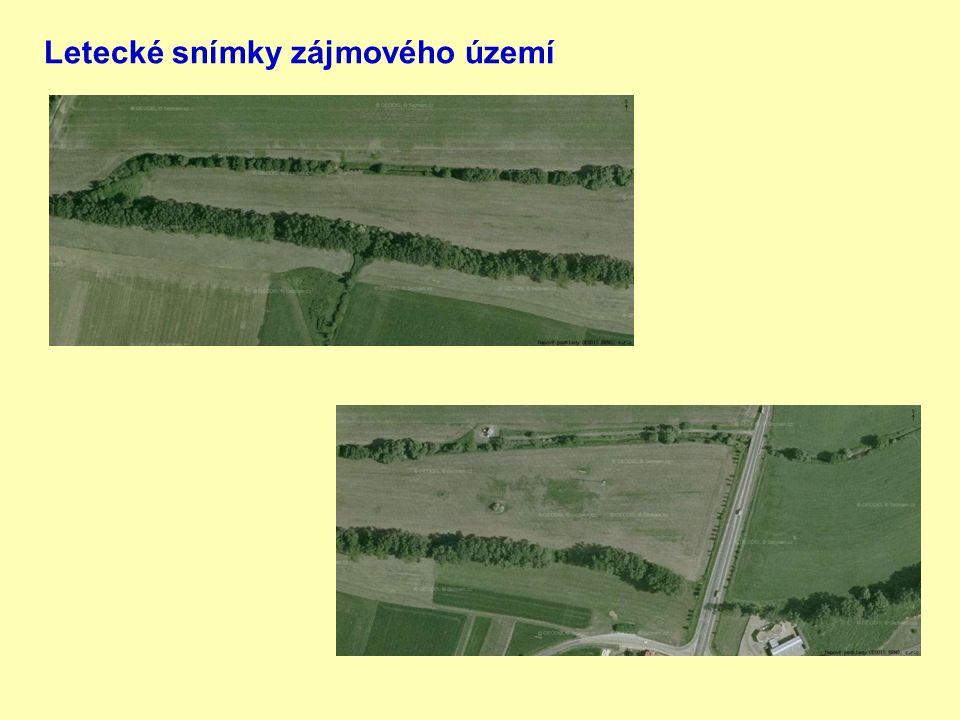 Letecké snímky zájmového území