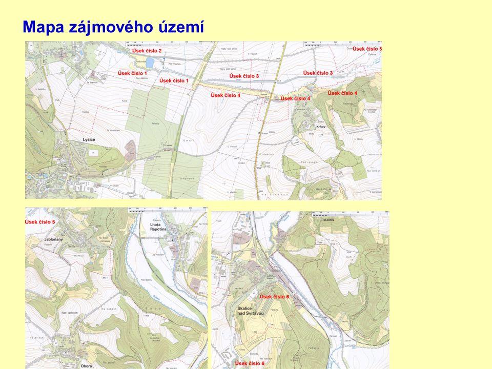 Mapa zájmového území