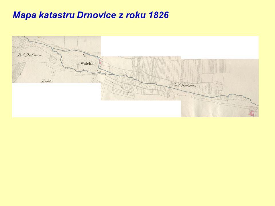 Mapa katastru Drnovice z roku 1826
