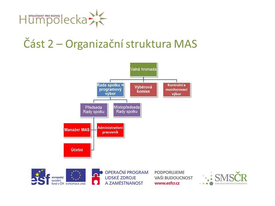 Část 2 – Organizační struktura MAS