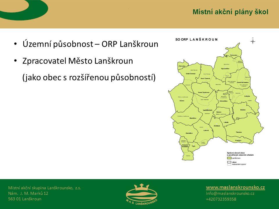 Místní akční skupina Lanškrounsko, z.s. Nám. J. M.