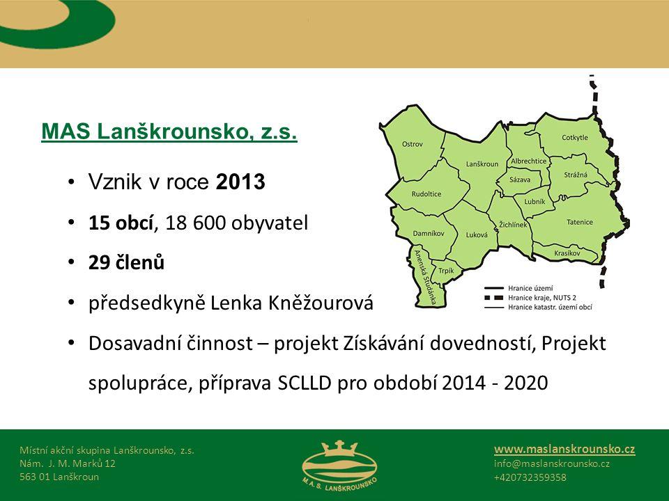MAS Lanškrounsko, z.s. Místní akční skupina Lanškrounsko, z.s.