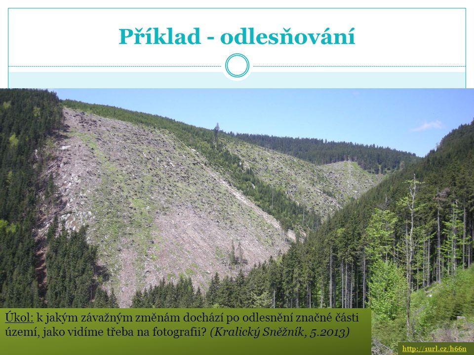 Příklad – půdní eroze V ČR je až 40% zemědělsky obdělávaných půd dotčeno erozí.