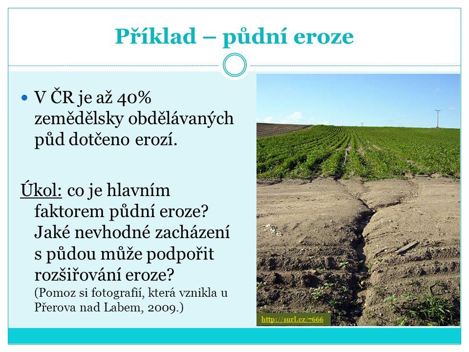 Příklad – zalesňování Úkol: jakými způsoby se pečuje o les.