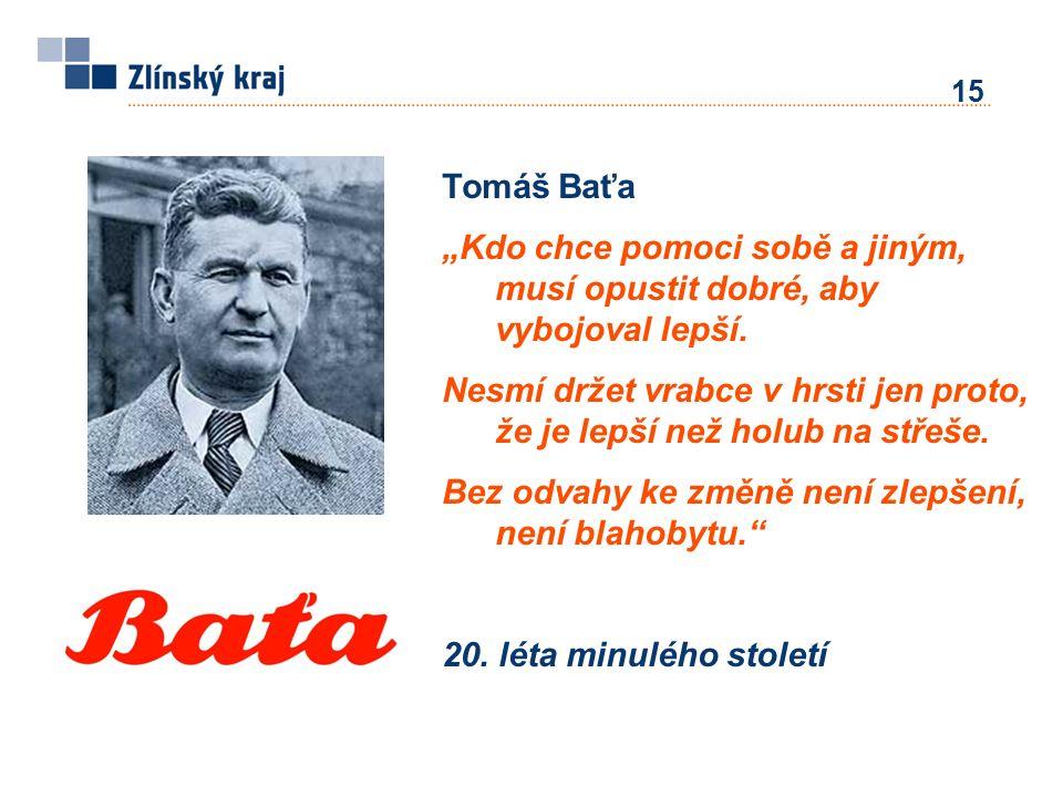 """Tomáš Baťa """"Kdo chce pomoci sobě a jiným, musí opustit dobré, aby vybojoval lepší."""