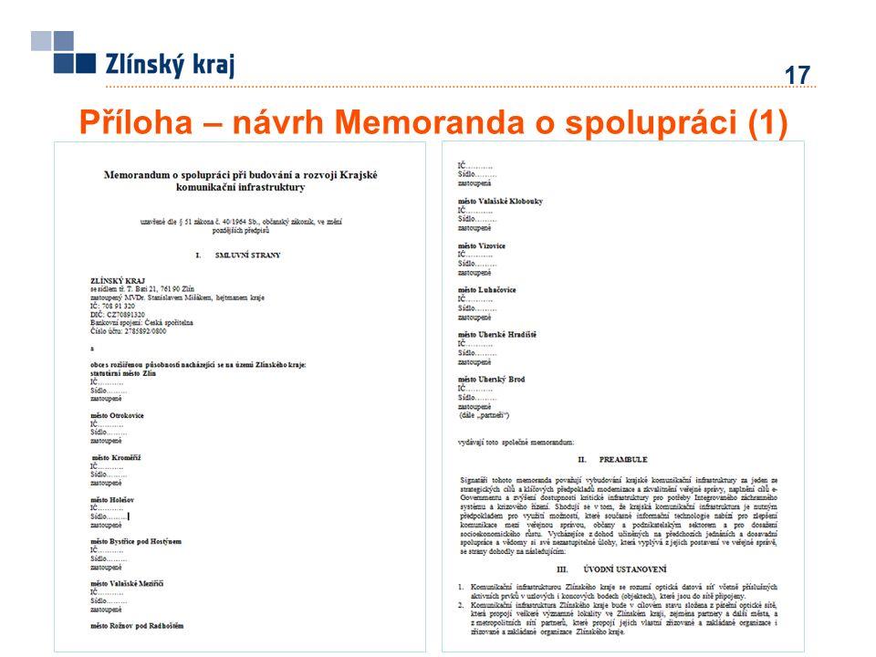 Příloha – návrh Memoranda o spolupráci (1) 17