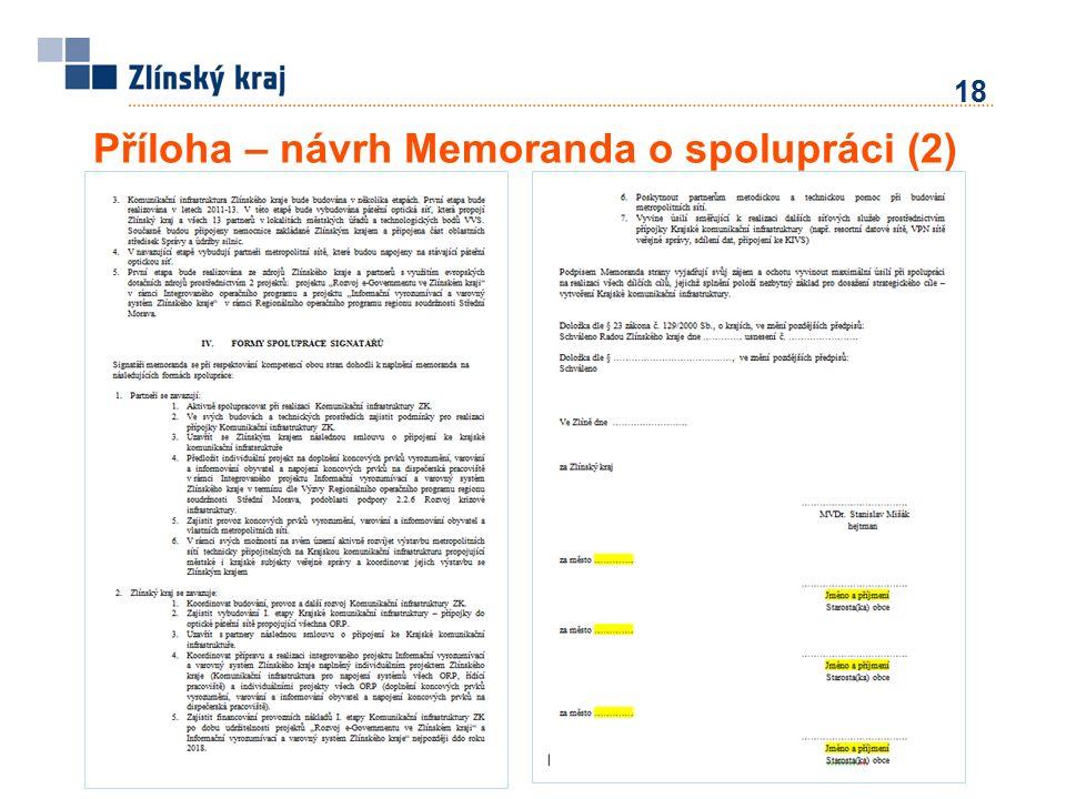 Příloha – návrh Memoranda o spolupráci (2) 18