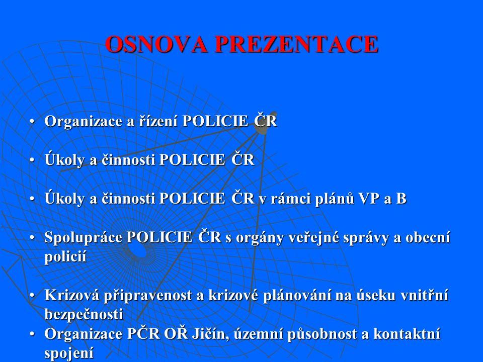 Vnitřní bezpečnost a veřejný pořádek Policie České republiky Okresní ředitelství Jičín