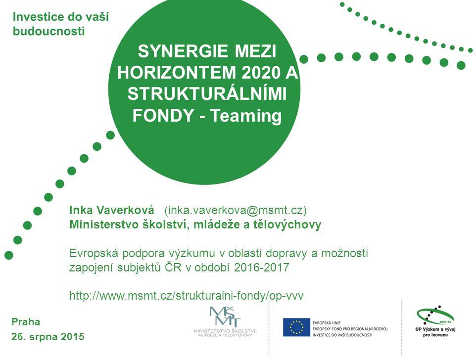 HORIZONT 2020 Implementace Unie inovací – vlajková loď Evropy 2020 zaměřená na zajištění globální konkurenceschopnosti Evropy 3 hlavní priority Řízena Evropskou komisí/výkonnou agenturou Neteritoriální, hlavně nadnárodní přístup založený na excelenci a dopadu Je vyňat z veřejné podpory Soutěžní výzvy adresované na mezinárodní konsorcia bez geografického před-rozdělení alokace