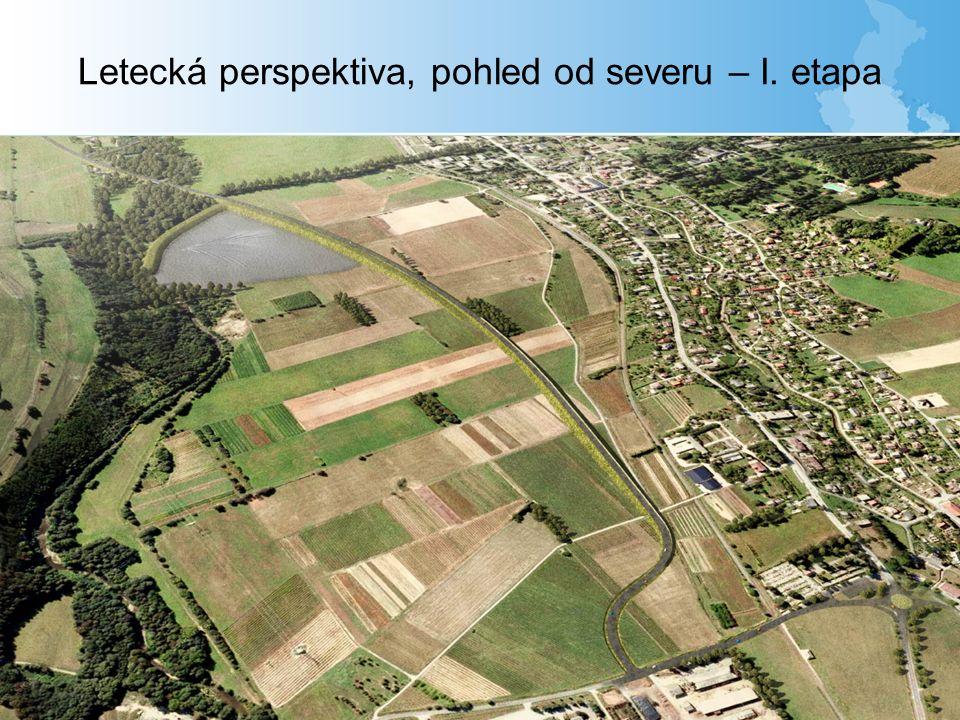 Letecká perspektiva, pohled od severu – I. etapa