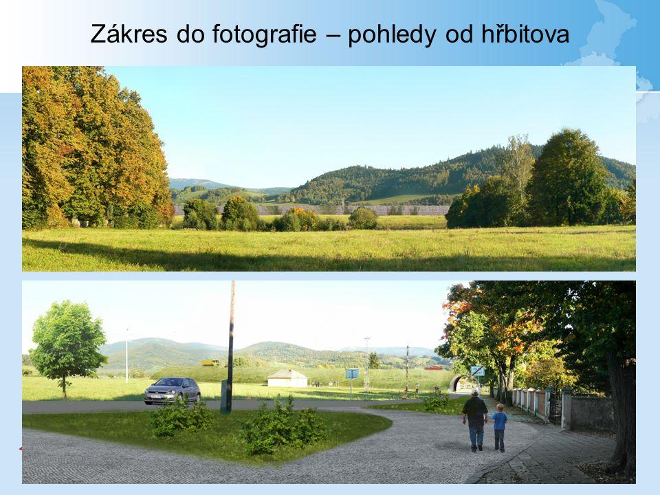 Zákres do fotografie – pohledy od hřbitova