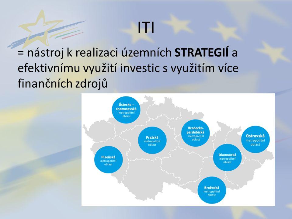 ITI = nástroj k realizaci územních STRATEGIÍ a efektivnímu využití investic s využitím více finančních zdrojů
