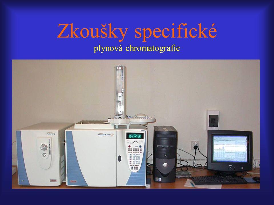 Zkoušky specifické plynová chromatografie