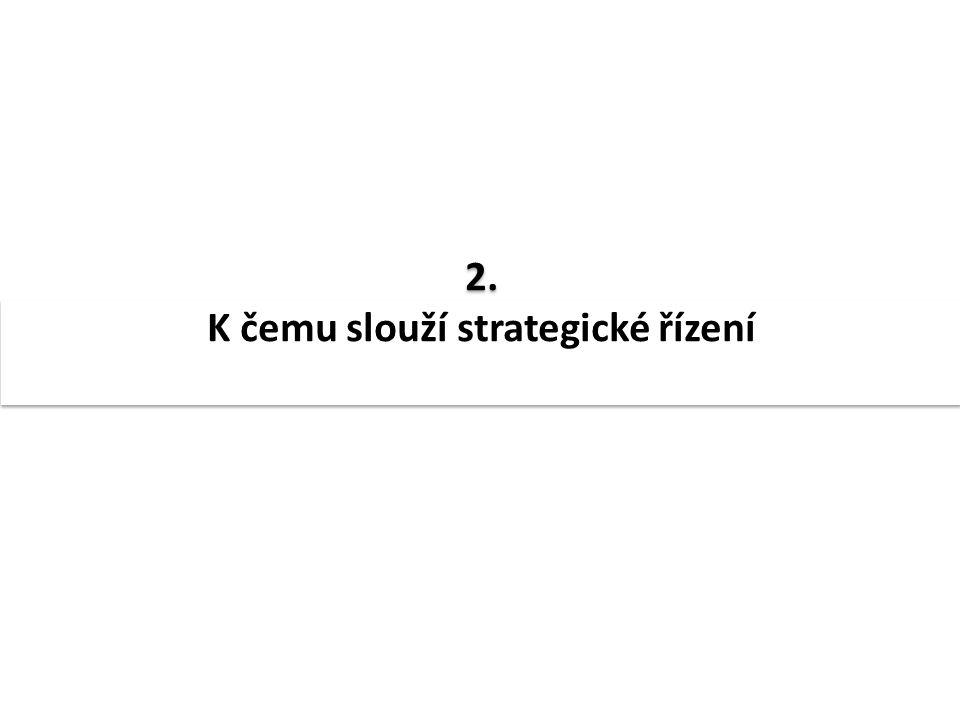 2. K čemu slouží strategické řízení