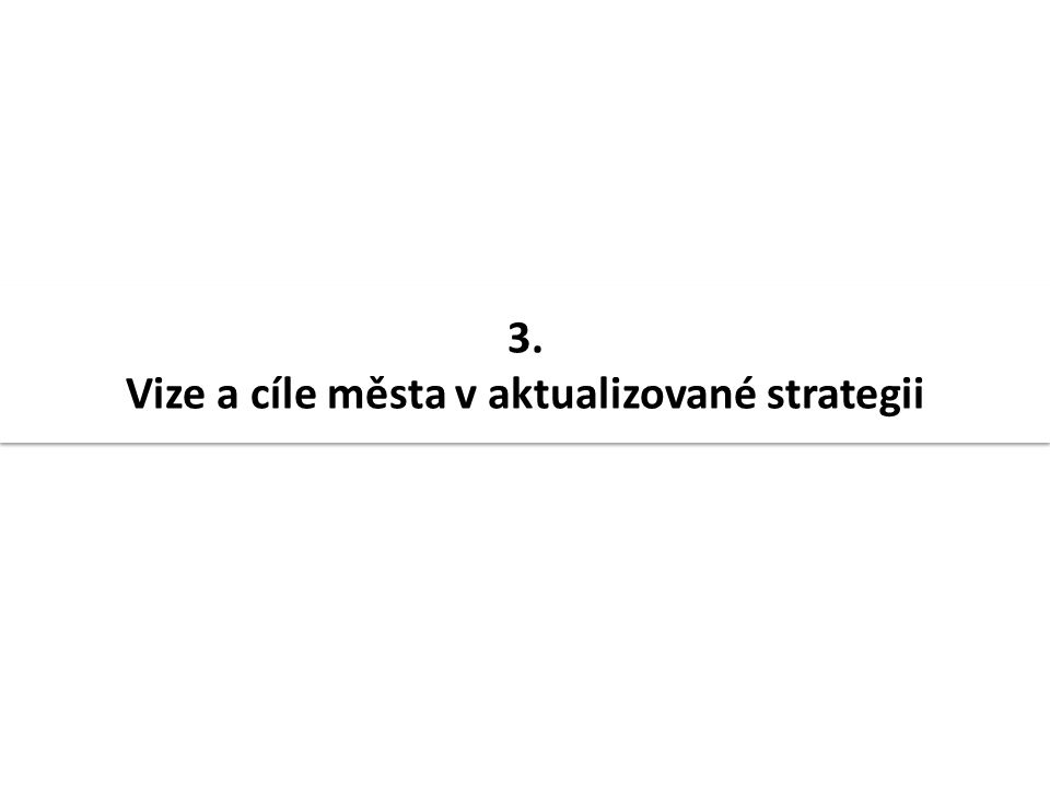 3. Vize a cíle města v aktualizované strategii