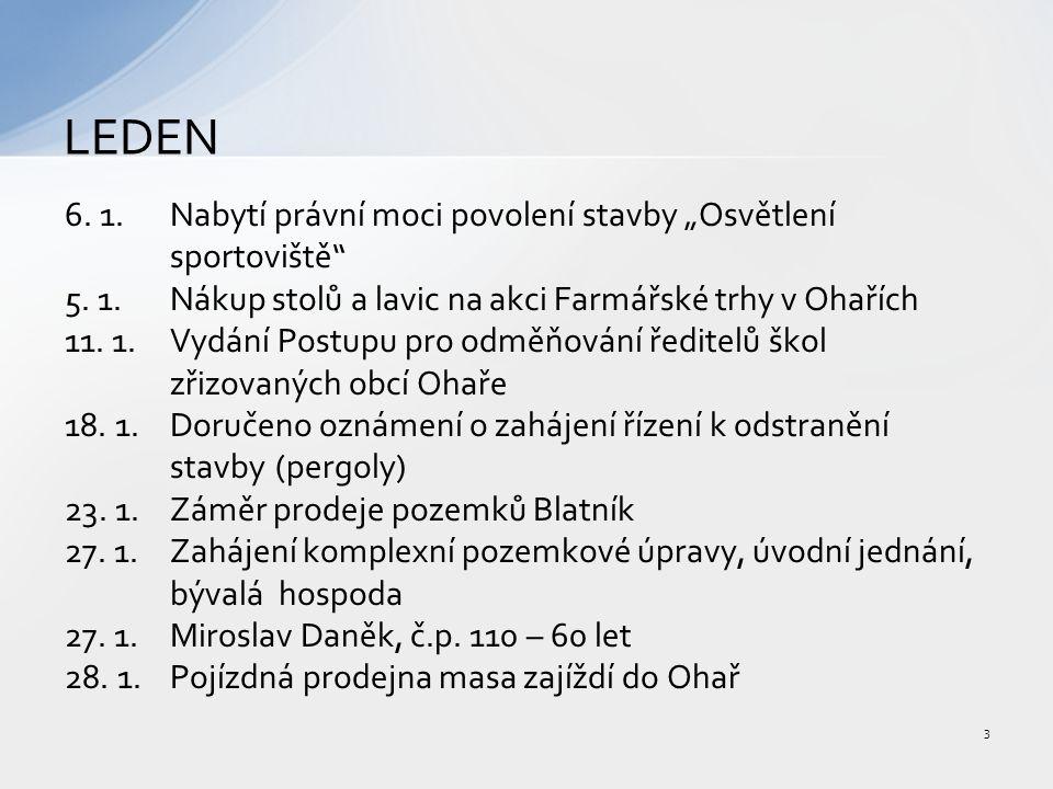 """6. 1.Nabytí právní moci povolení stavby """"Osvětlení sportoviště 5."""