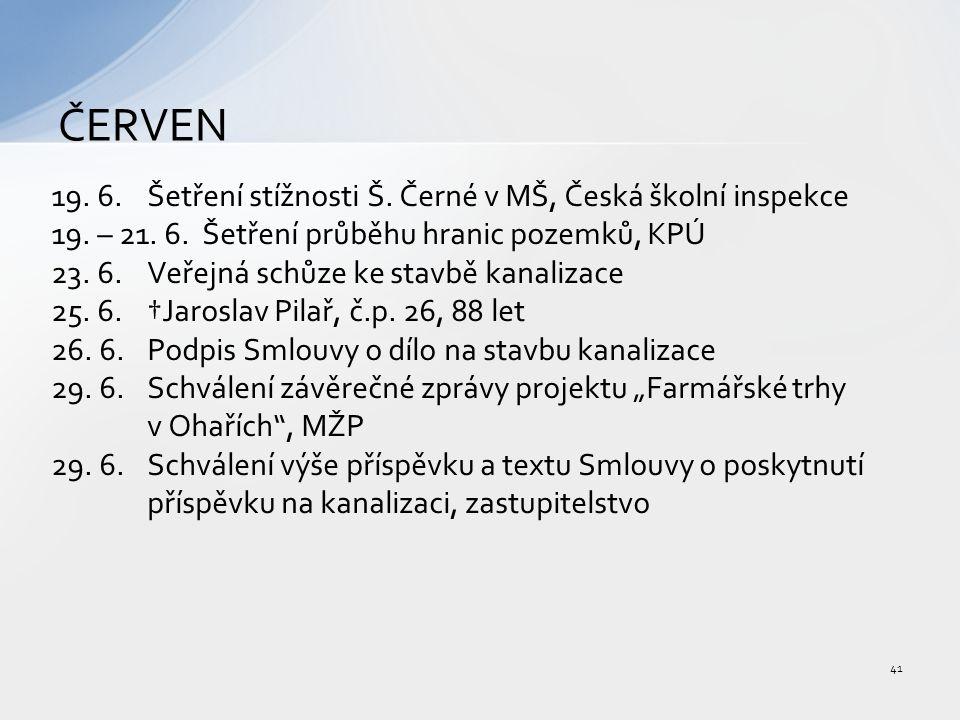 19. 6.Šetření stížnosti Š. Černé v MŠ, Česká školní inspekce 19.