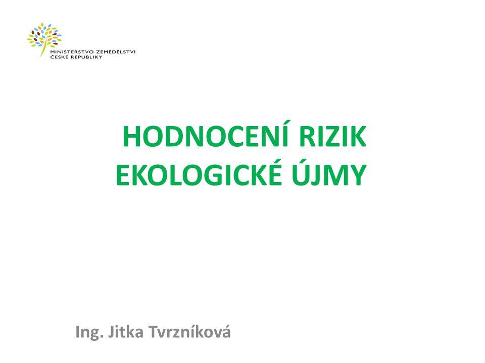 HODNOCENÍ RIZIK EKOLOGICKÉ ÚJMY Ing. Jitka Tvrzníková