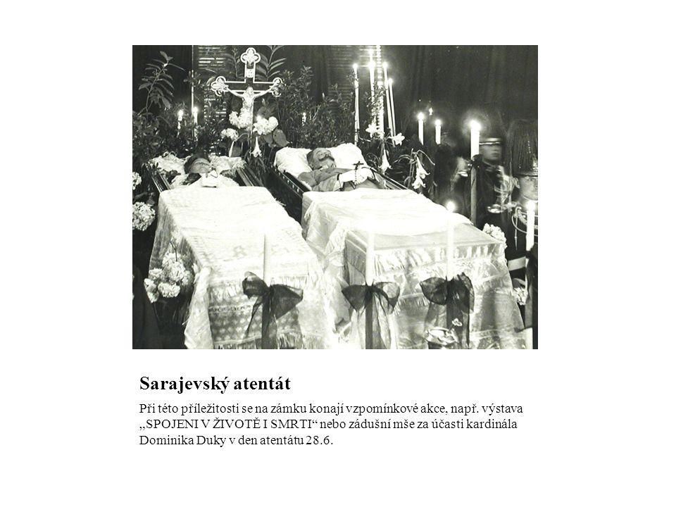 Sarajevský atentát Při této příležitosti se na zámku konají vzpomínkové akce, např.