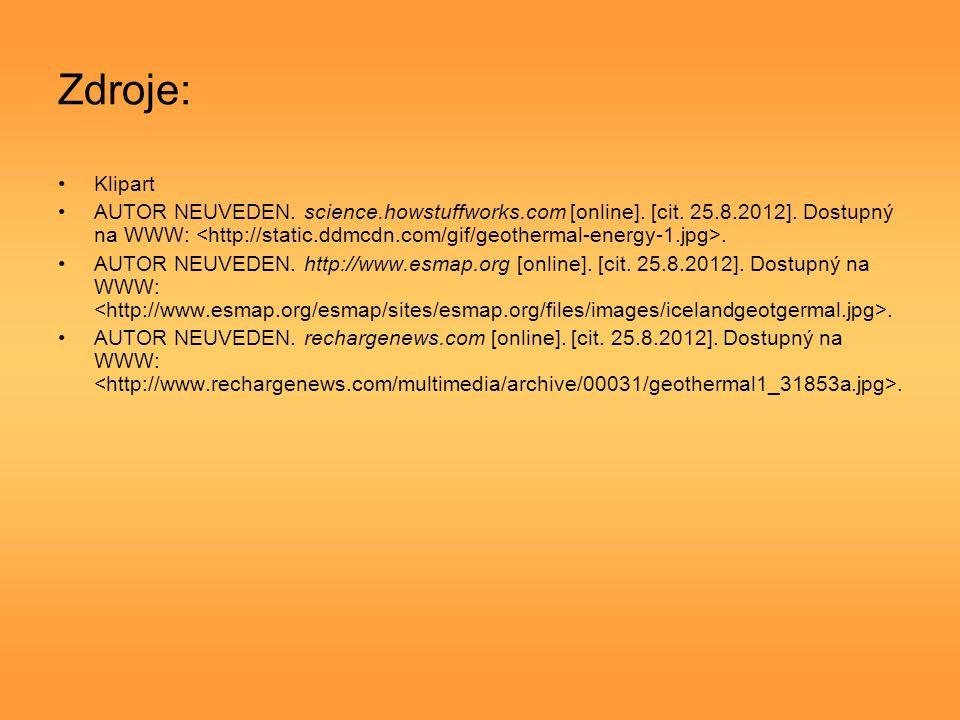 Zdroje: Klipart AUTOR NEUVEDEN. science.howstuffworks.com [online].
