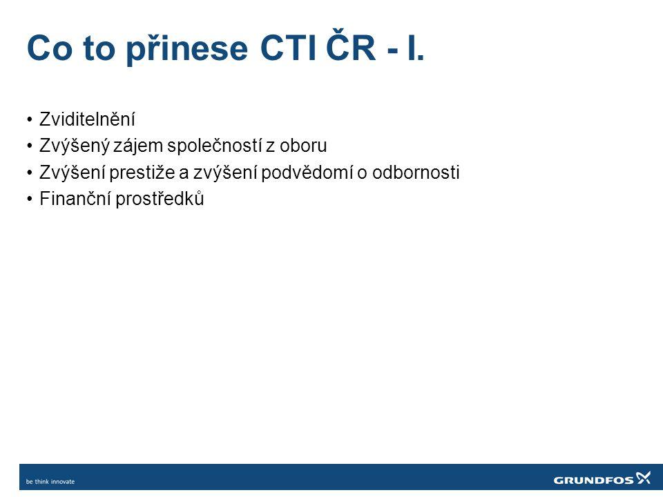 Co to přinese CTI ČR - I.