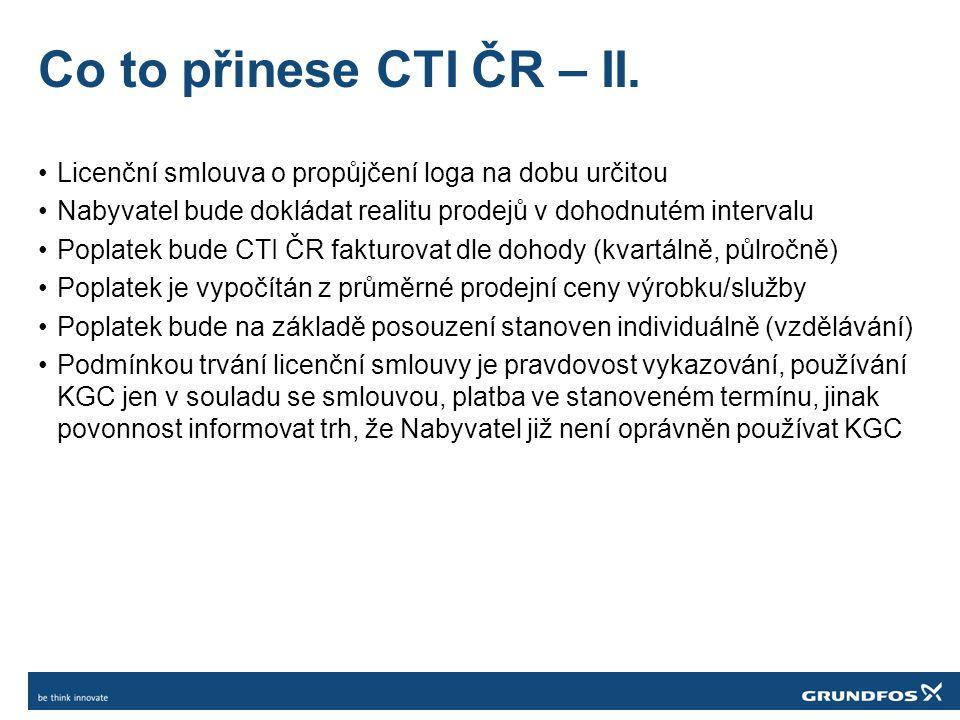 Co to přinese CTI ČR – II.