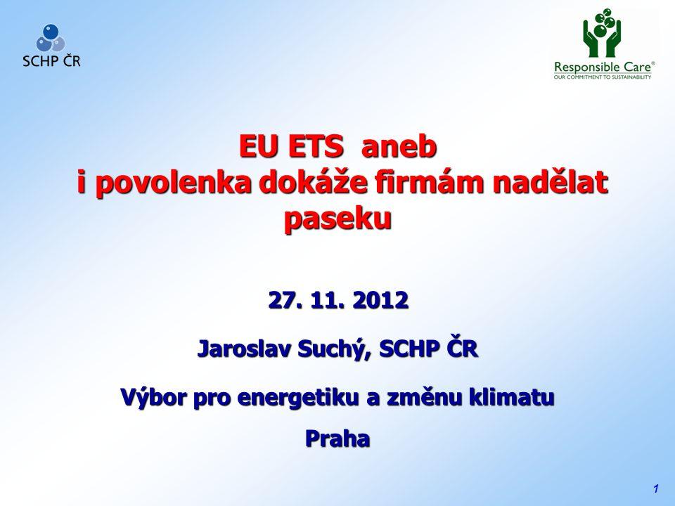 1 EU ETS aneb i povolenka dokáže firmám nadělat paseku 27.