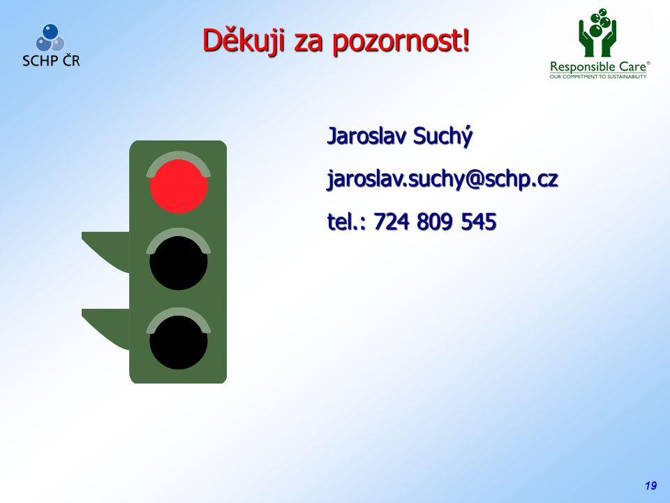 19 Děkuji za pozornost! Jaroslav Suchý jaroslav.suchy@schp.cz tel.: 724 809 545