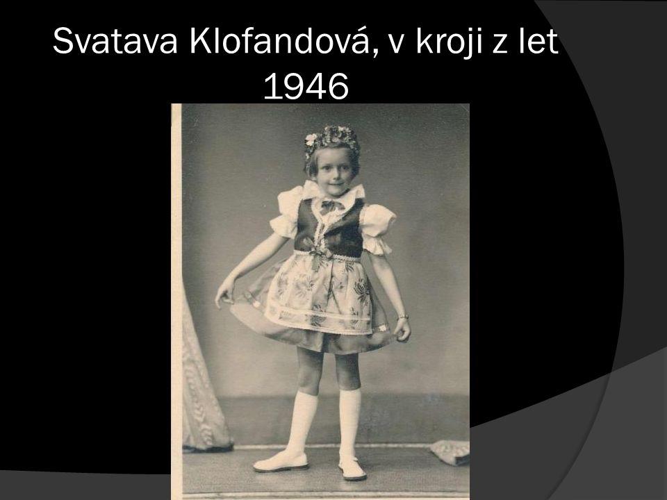 Svatava Klofandová, v kroji z let 1946