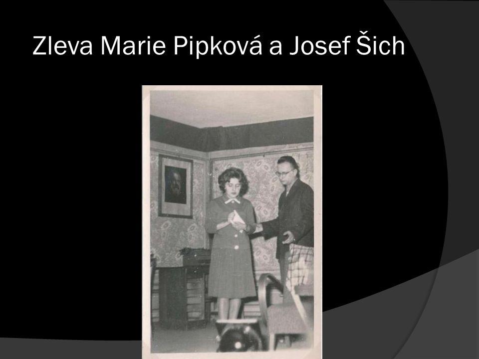 Zleva Marie Pipková a Josef Šich