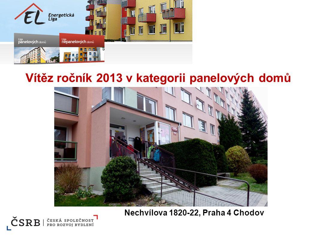 Vítěz ročník 2013 v kategorii panelových domů Nechvílova 1820-22, Praha 4 Chodov