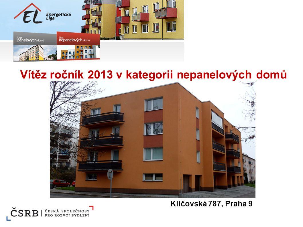 Vítěz ročník 2013 v kategorii nepanelových domů Klíčovská 787, Praha 9