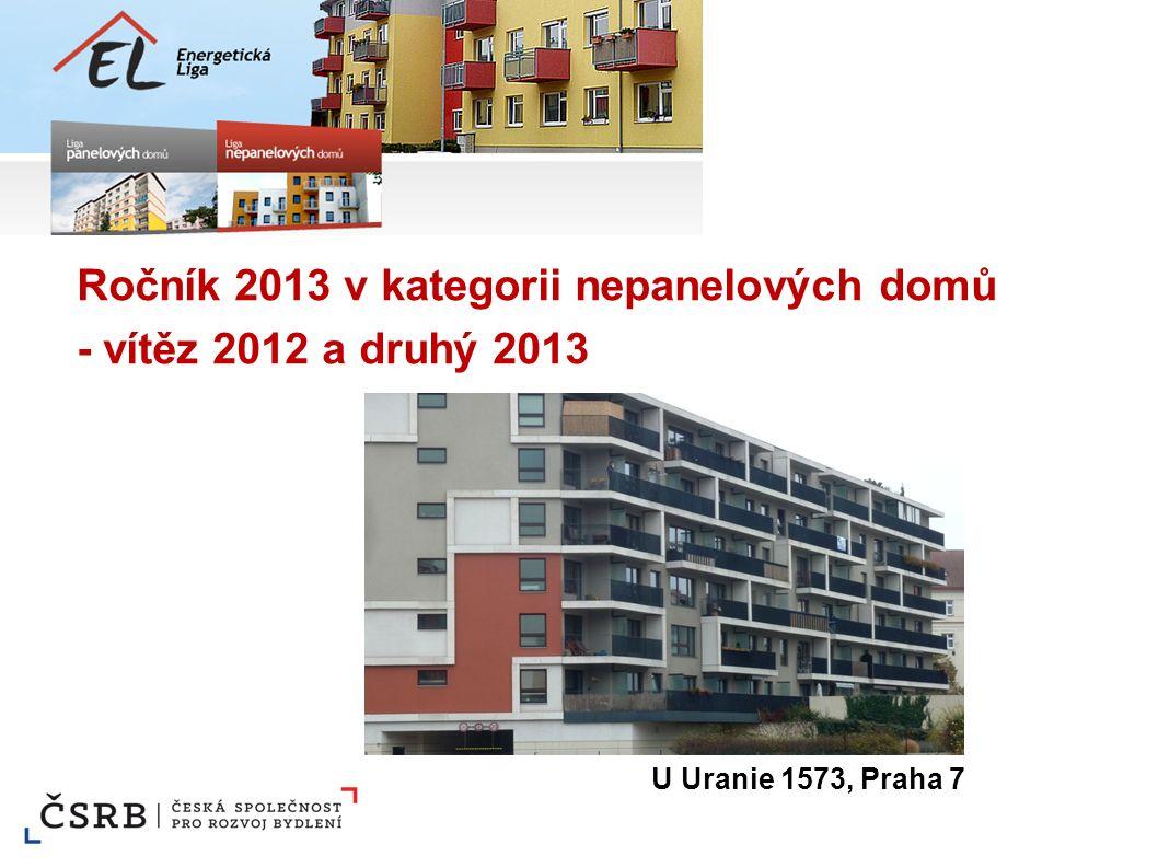 Ročník 2013 v kategorii nepanelových domů - vítěz 2012 a druhý 2013 U Uranie 1573, Praha 7
